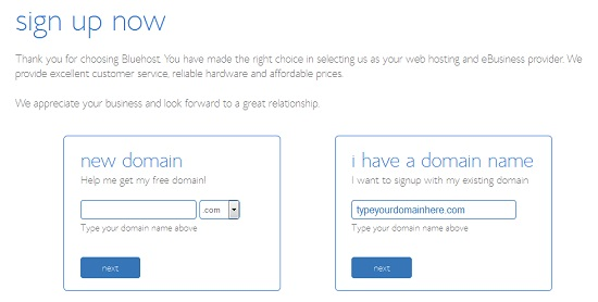 Bluehost Instructions 2